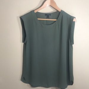 J crew olive green sleeveless top